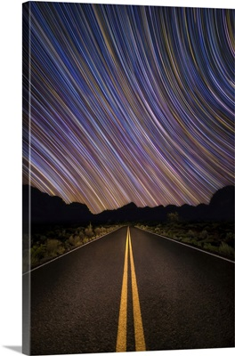 Star Trails Over Sedona, Arizona