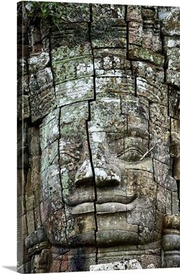 Stone face at entrance to Ta Prohm, Angkor Wat, Cambodia