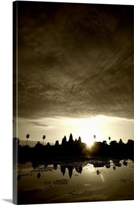 Sunrise on the reflecting pool, Angkor Wat, Cambodia