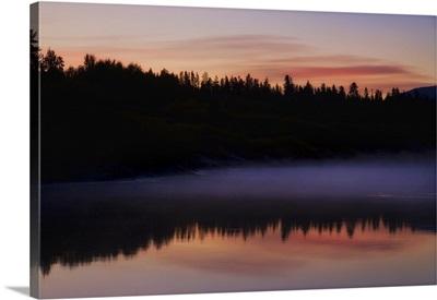 Sunrise on the water, Oxbow Bend, Jackson Hole, Wyoming