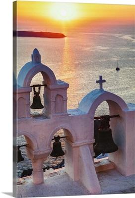 Sunset in Oia, Santorini, Greece
