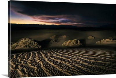 Sunset on the Mesquite Sand Dunes at Death Valley National Park