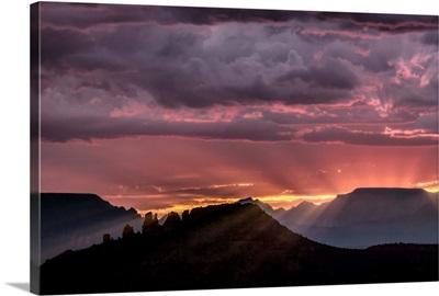 Sunset with clouds over Sedona, Arizona