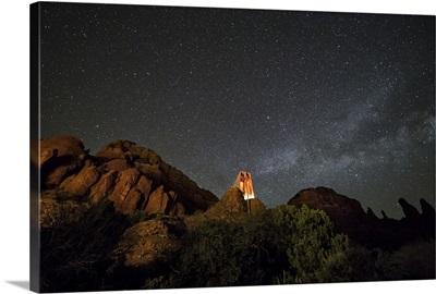 The Milky Way over the Chapel in Sedona, Arizona
