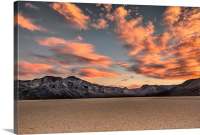 The Racetrack at sunset in Death Valley National Park