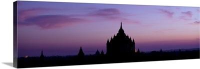 The temples in Bagan, Burma at sunrise
