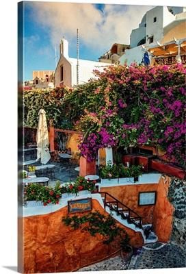 The town of Oia, Santorini, Greece