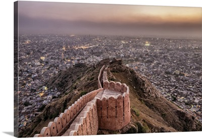The view from Nahargarh Fort above Jaipur, India