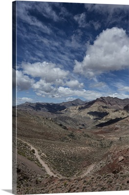 Titus Canyon and clouds next to Death Valley National Park