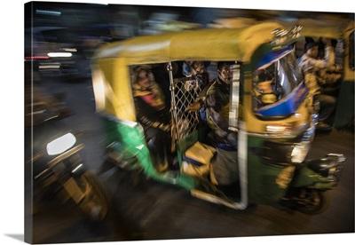 Tuk Tuk in the streets of New Delhi, India