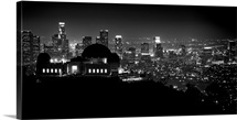 View of Los Angeles at night from the Griffith Park Observatory