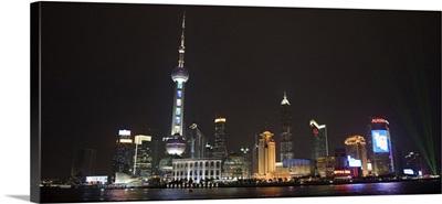 View of Shanghai, China at night