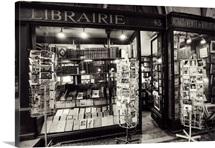 Vintage book store in Paris, France
