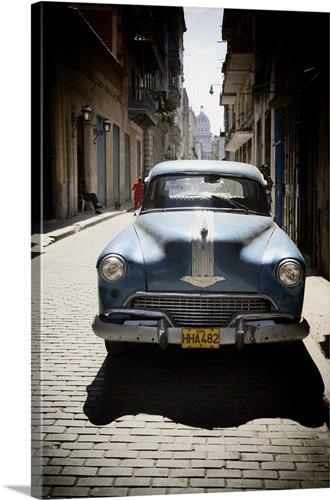 Vintage Cuban Car Wall Art, Canvas Prints, Framed Prints, Wall Peels ...
