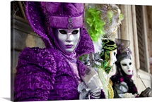 Women in Mascarade Masks during Carnival, Venice, Italy