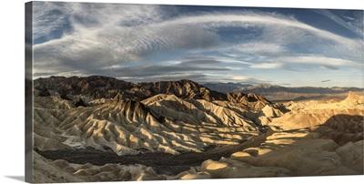 Zabriski Point panorama in Death Valley at sunrise