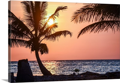 A Warm Sunset Over Southern Belize