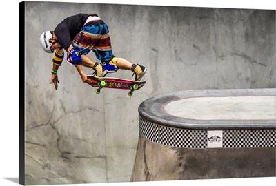 Legendary Skateboarder Christian Hosoi, Vans Skatepark 2017