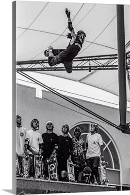 Vintage Photo Of Legendary Skateboarder Christian Hosoi, Shot In LA In 1988