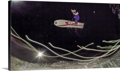 Vintage Photo Of Legendary Snowboarder Chris Roach Riding Boreal In 1989