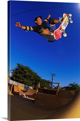 Vintage Photo Of Omar Hassan Ripping In SoCal, 1989