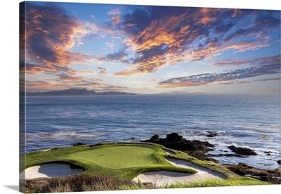 A View Of Pebble Beach Golf Course, Hole 7, Monterey, California