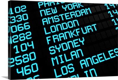Airport Board - International Destinations