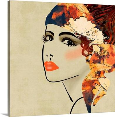 Art Deco Girl, Sepia