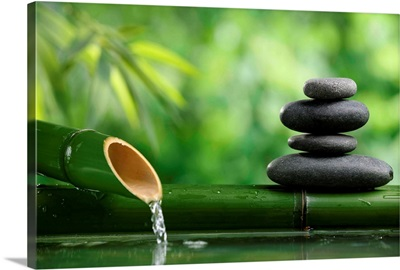 Bamboo Fountain and Zen Stones