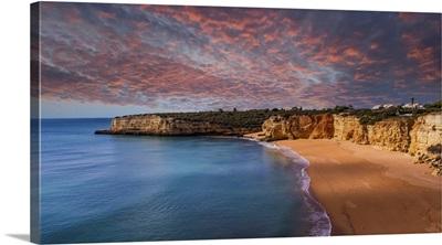 Beach And Cliffs Of Senhora Da Rocha, Lagoa, Algarve, Portugal