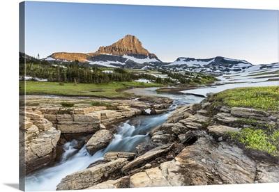 Beautiful Nature At Logan Pass, Glacier National Park, Montana