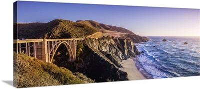 Bixby Creek Bridge And The Pacific Ocean Coastline, Big Sur, CA