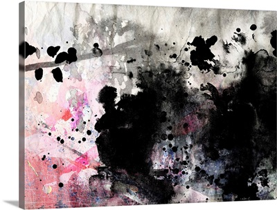 Black and Pink Abstract