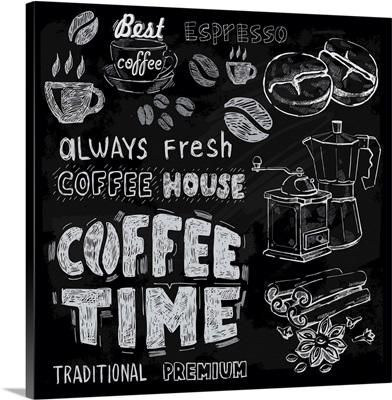Coffee Time - Chalkboard Coffeehouse Sign