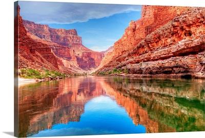 Colorado river running through the Grand Canyon