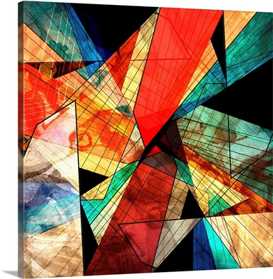 Colorful abstract geometric web