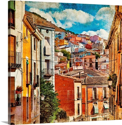 Colorful Spain - Streets And Buildings Of Cuenca Town