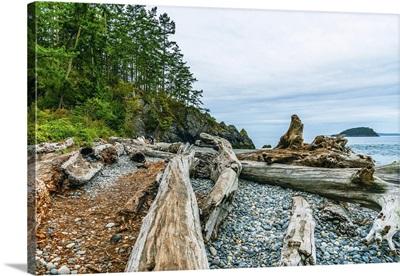 Deception Pass State Park Beach In Oak Harbor, Washington State