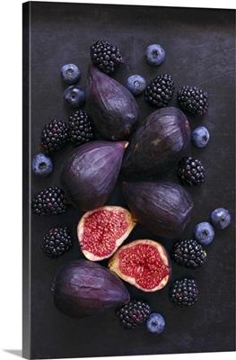 Figs, Blackberries, And Blueberries