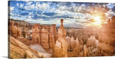 Hoodoos Sandstone Formations In Bryce Canyon National Park, Utah