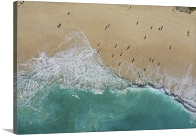 Kelingking Beach In Nusa Penida, Indonesia Aerial View