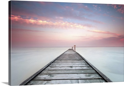 Minimalistic Landscape With Old Jetty