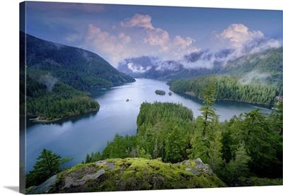 Mountain Landscape, Lake, And Mountain, Seattle, Washington State
