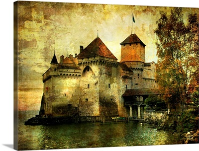 Mysterious Castle on the Lake, Chateau de Chillon, Switzerland