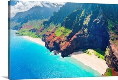Na Pali Coast On Kauai Island, Hawaii