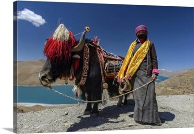 Namtso Lake In Tibet, China