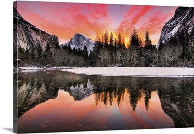 Nature Landscape Of Yosemite National Park, California