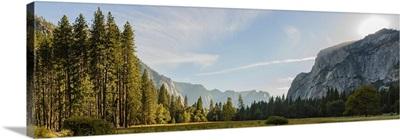 Panorama View Of Yosemite National Park During Sunset
