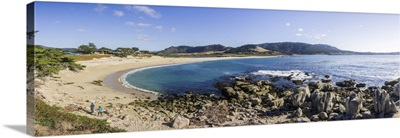 Panoramic View Of Carmel River State Beach, Monterey Peninsula, California