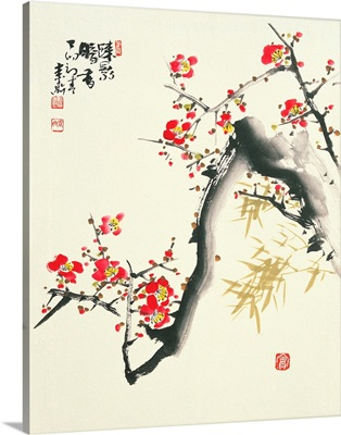 Plum Blossoms On A Branch